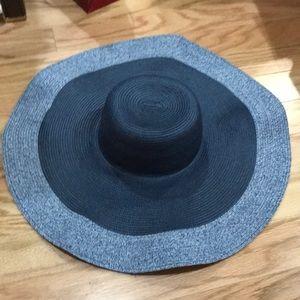 Large woven sun hat